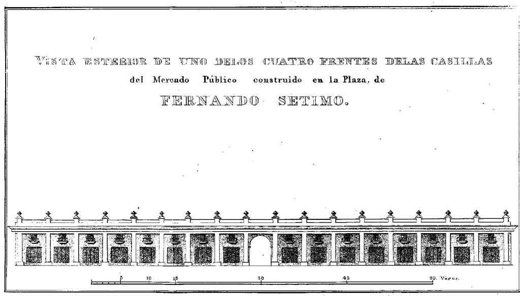 plaza de fernando vii plaza vieja mercado de cristtina