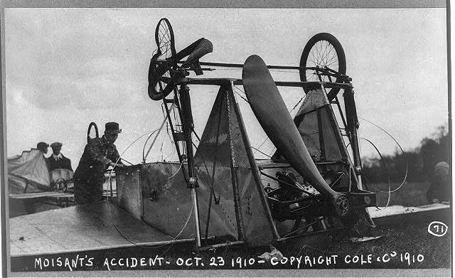 Accidente aéreo donde falleció John Moisant