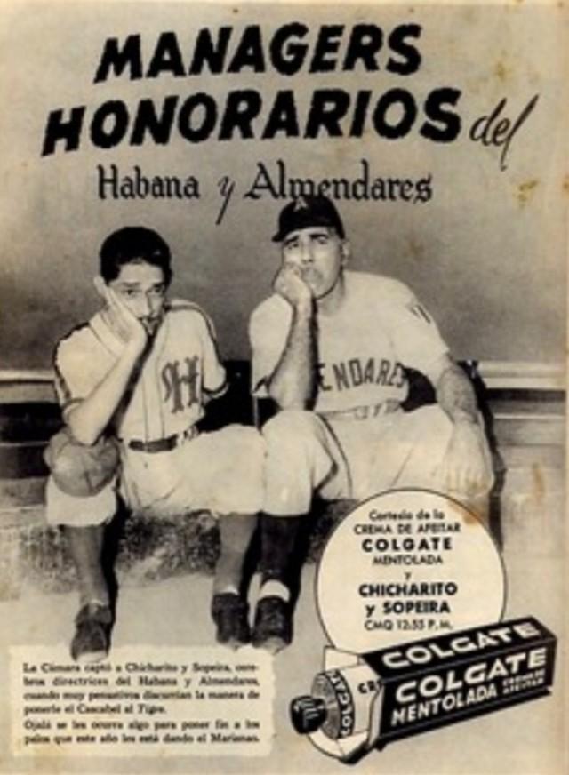 Chicharito y Sopeira (Alberto Garrido y Federico Piñero) en un anuncio publicitario de la Colgate