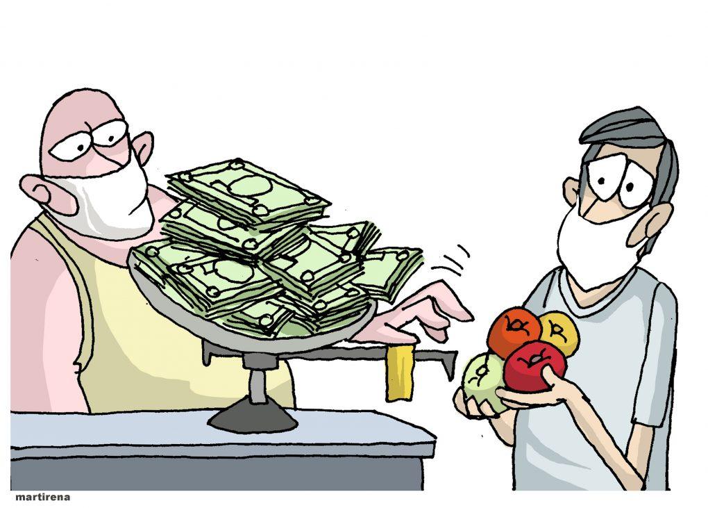 Martirena Caricatura Mercado