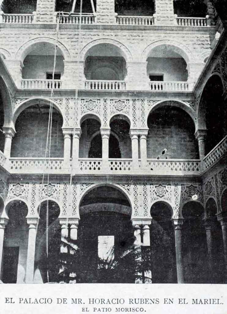 palacio-de-rubens-en-construcción-patio-morisco-1906